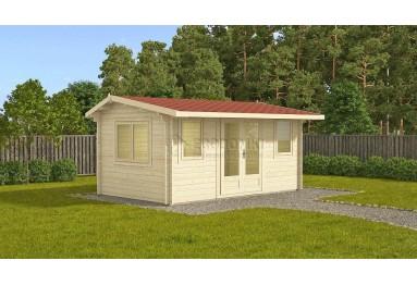 Szybka dostawa! Domek drewniany Nida Plus 15m² (5x3m), 44mm