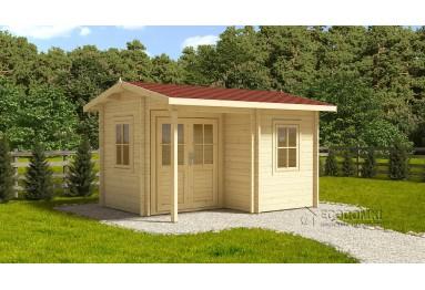 Szybka dostawa! Domek drewniany Alpina Plus 20m² (5x4m), 44mm