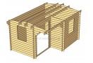 Domek drewniany Alpina Plus 12m² (4x3m), 44mm