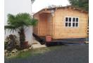 Domek drewniany Alpina Plus 20m² (5x4m), 44mm