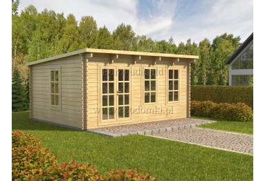 Domek drewniany Atlant 20m² (5x4m), 44mm