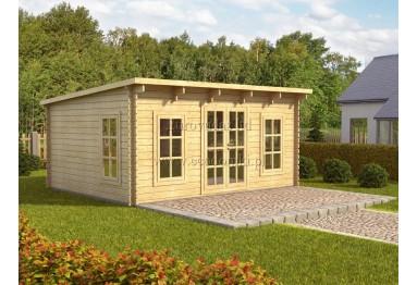 Domek drewniany Torino 20m² (5x4m), 44mm
