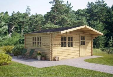 Domek ogrodowy drewniany Faro 20m² (5x4m), 44mm