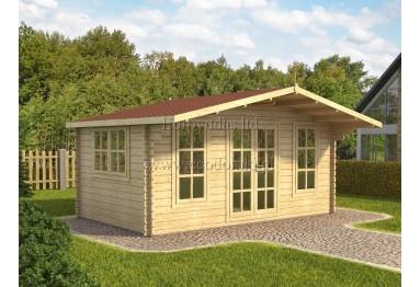 Domek drewniany York 15m² (5x3m), 44mm