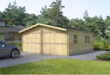 Podwójny garaż drewniany Double 36m² (6x6m), 44mm