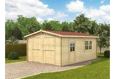 Garaż drewniany WG 24m² (4x6m), 44mm