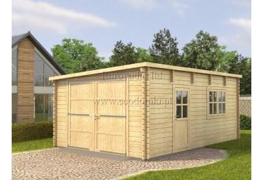 Garaż drewniany Modern brama wliczona 24m² (4x6m), 44 mm