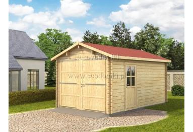 Garaż drewniany 15m² (3x5m), 34mm