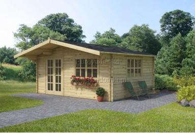 *Szybka dostawa* Domek ogrodowy drewniany Monaco Plus 20m² (5x4m), 44mm