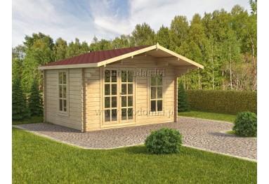 Domek ogrodowy drewniany Milano 12m² (4x3m), 44mm