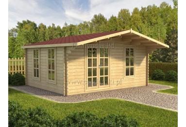 Domek ogrodowy drewniany Milano 25m² (5x5m), 44mm