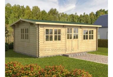 Domek ogrodowy drewniany Oslo 24m² (6x4m), 44mm